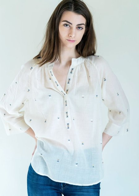 Mirth Caftans Palm Springs Top in Ivory