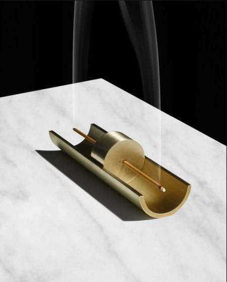 Cinnamon Projects Circa Brass Incense Burner