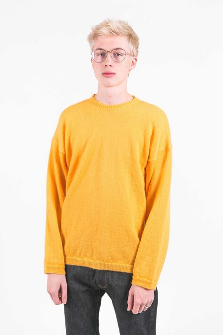 Our Legacy Mohair Popover Round Neck Sweater - Orange