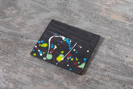 Maison Margiela Paint Splatter Card Holder - Black