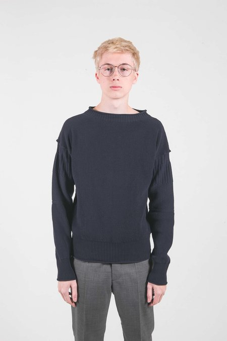 Maison Margiela Deconstructed Cotton Sweater - Navy