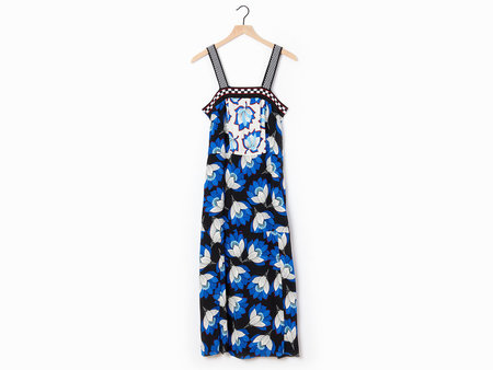 Warm Sadie Dress - Blue/Black