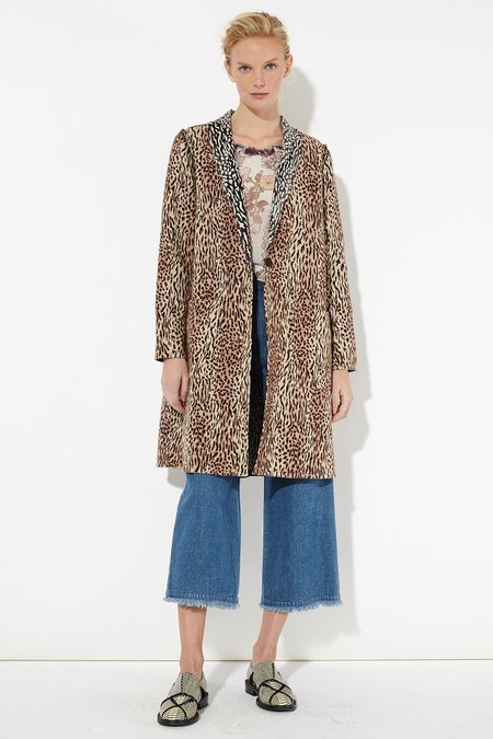 Raquel Allegra Leopard Cotton Reversible Duster