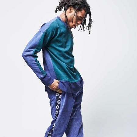 Post-Imperial Lagos Sweatshirt - Green/Indigo