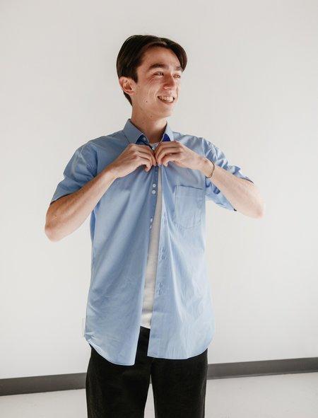 Comme des Garçons Shirt Double Button Poplin Shirt - Light Blue