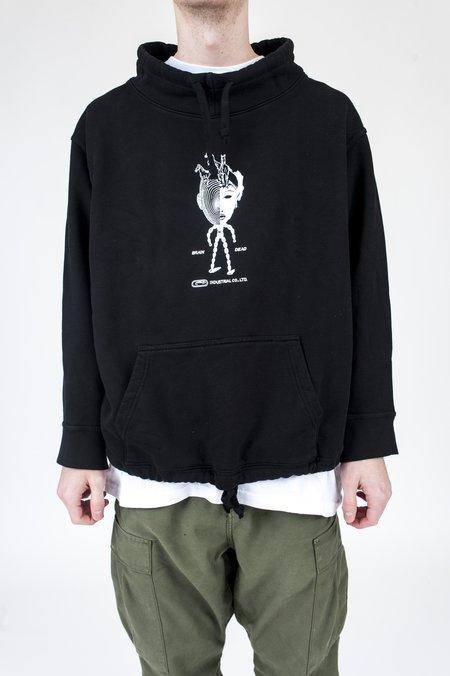 Brain Dead Industrial Mock Neck Sweatshirt - Black