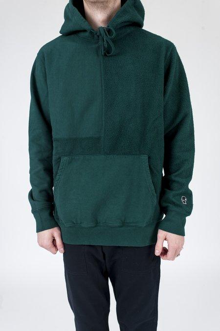 Brain Dead Paneled Hoodie - Emerald Green