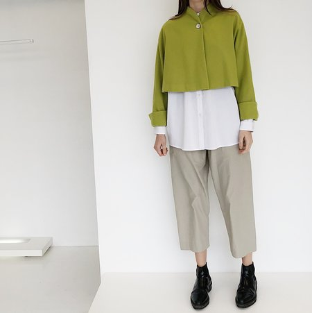 Johan Vintage Green Wool Crop Jacket