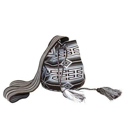 Peyote Moon Slate Grey Large Wayuu Bag