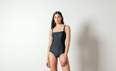 Matteau The Square Maillot in Black