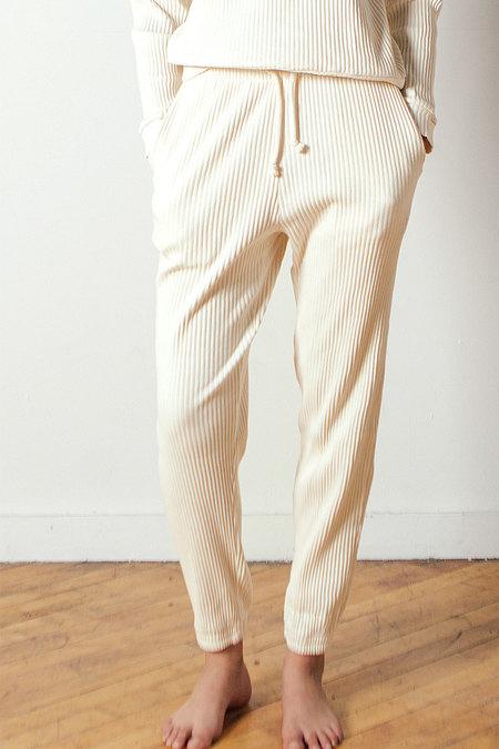 Baserange Sweat Pants Rib in Off-white
