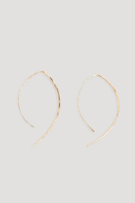 "Melissa Joy Manning 1"" Wishbone Hoop Earring in 14k Gold"