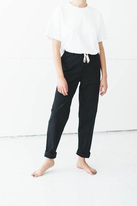 Unisex Ijji Drawstring Pants  - True Black