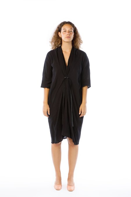 Miranda Bennett O'Keefe Dress, Cotton Gauze in Black