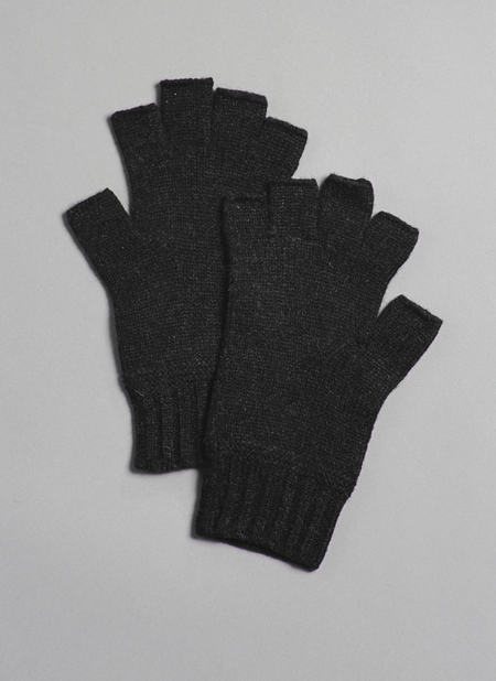 Grei Cashmere Fingerless Gloves In Charcoal