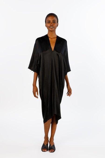 Miranda Bennett Ed. VIII Muse Dress Silk Charmeuse in Black