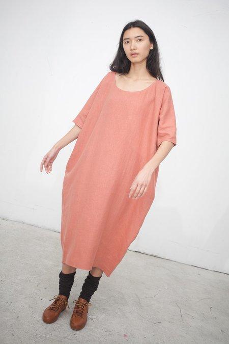 Rachel Craven Long Cocoon Dress in Terracotta