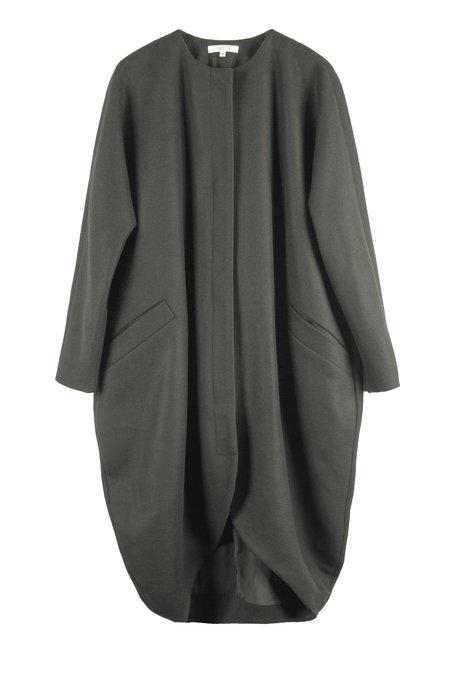 Vincetta Drape Cocoon Coat - Steel