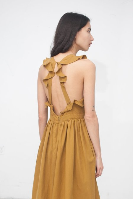 Ulla Johnson Willa Pinafore in Ochre