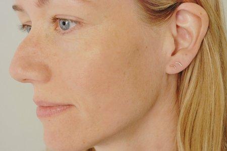 Rachel Gunnard Down Earrings - Silver/14k Gold