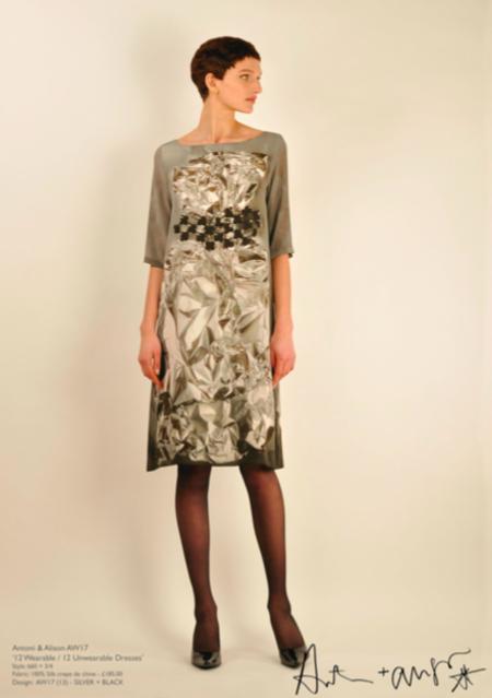 Antoni + Alison Foil Sculpture Dress