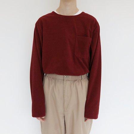 Johan Vintage Burgundy Fleece Pullover