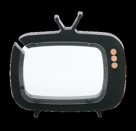 Kid's Up! Warsaw- TV- Shaped Piggy Bank Black
