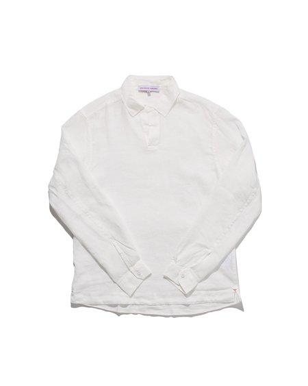 Orlebar Brown Ridley Linen Popover - White