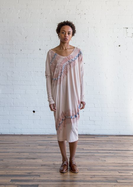 Raquel Allegra Raglan Dress - Nude Tie Dye