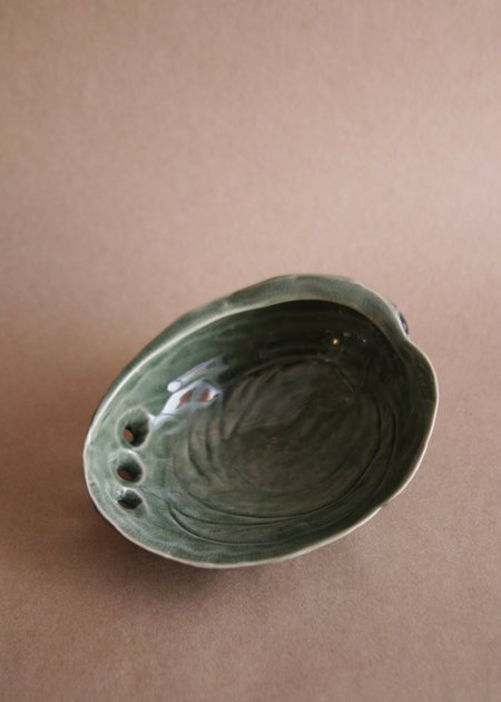 Salt & Earth Ceramic Abalone Shell - Small / Green